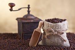 Abbondanza dei chicchi di caffè Immagine Stock