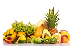 Abbondanza della frutta fresca Immagine Stock
