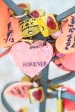 Abbondanza di amore rosso di neolatino della serratura del cuore Immagini Stock Libere da Diritti