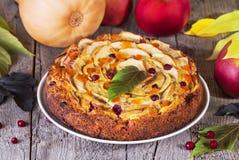Abóbora e torta de maçãs Foto de Stock Royalty Free