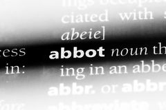 Abbot. Word in a dictionary.  concept Royalty Free Stock Photography