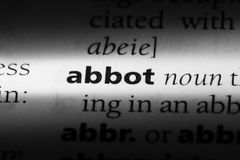 Abbot. Word in a dictionary.  concept Stock Photography