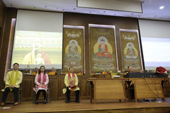 Abbot fayun hosted concert. March 21, 2015, hongshan temple held a buddhist  concert in amoy city, china. buddhists actively participate Royalty Free Stock Photos