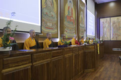Abbot fayun hosted concert. March 21, 2015, hongshan temple held a buddhist  concert in amoy city, china. buddhists actively participate Stock Images