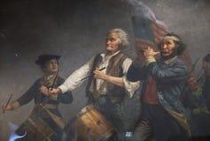 Abbot Hall hem av anden av 76 som målar vid Archibald Willard, Marblehead, Massachusetts, USA Arkivfoton