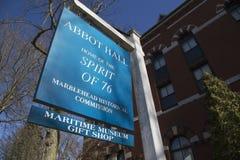 Abbot Hall hem av anden av 76 som målar vid Archibald Willard, Marblehead, Massachusetts, USA Royaltyfri Fotografi
