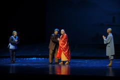 The Abbot's advice- Jiangxi opera a steelyard Stock Image