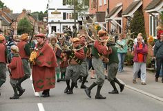 Abbots Bromley Horn Dance Royalty Free Stock Photography
