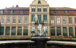 Abbots palace in gdansk oliva park. building with fountain Stock Image