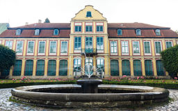 Abbots palace in gdansk oliva park. building with fountain Royalty Free Stock Images