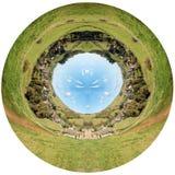 Abbotsbury bypanorama Royaltyfri Bild