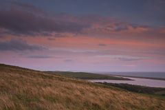 Abbotsbury from Chapel Hill in Dorset. Royalty Free Stock Images