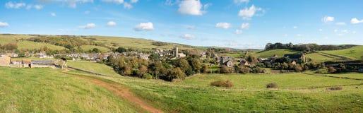 Abbotsbury Village Panorama Stock Photo