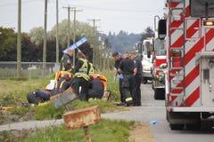 Abbotsford火和抢救队出席事故 免版税库存图片