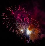 Beautiful fireworks on display royalty free stock image
