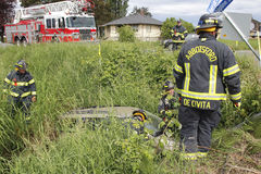 Abbotsford Fire and Rescue Attend Accident Stock Photos