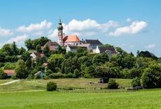 Abbotskloster av Andechs Arkivfoto