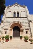 Abbotskloster av den Dormition fasaden, Mount Zion Royaltyfri Foto