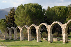 Abbotskloster av den forntida kloster för St vincent Arkivfoton