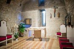 Abbotskloster av det heliga korset i Sassovivo Foligno, Italien Arkivbild