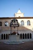 Abbotskloster av det heliga korset i Sassovivo Foligno, Italien Royaltyfria Bilder