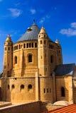 Abbotskloster av Dormition i gammal stad av Jerusalem Royaltyfri Bild