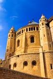 Abbotskloster av Dormition i gammal stad av Jerusalem Fotografering för Bildbyråer