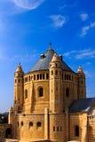 Abbotskloster av Dormition i gammal stad av Jerusalem Arkivbilder