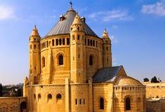 Abbotskloster av Dormition i gammal stad av Jerusalem Royaltyfri Foto