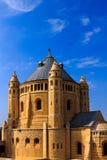 Abbotskloster av Dormition i gammal stad av Jerusalem, Israel Arkivfoto