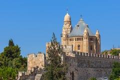Abbotskloster av Dormition i Jerusalem, Israel Royaltyfri Fotografi