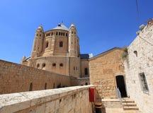 Abbotskloster av Dormition, Mount Zion, Jerusalem Fotografering för Bildbyråer