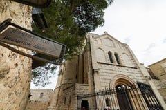 Abbotskloster av Dormitionen i Jerusalem Royaltyfri Bild