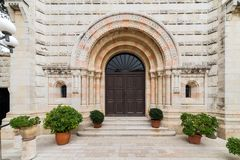 Abbotskloster av Dormitionen i Jerusalem Royaltyfria Foton
