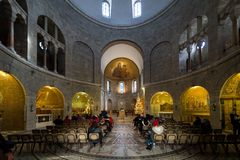 Abbotskloster av Dormitionen i Jerusalem Arkivfoton
