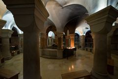 Abbotskloster av Dormitionen i Jerusalem Arkivbilder