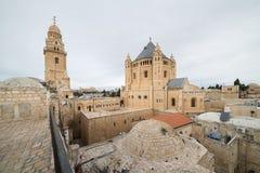 Abbotskloster av Dormitionen i Jerusalem Fotografering för Bildbyråer