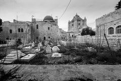 Abbotskloster av Dormitionen i Jerusalem Royaltyfri Foto