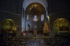 Abbotskloster av Dormitionen i Jerusalem Arkivbild