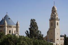 Abbotskloster av Dormitionen - Jerusalem Royaltyfri Fotografi
