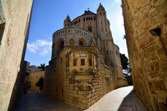 Abbotskloster av Dormitionen, Jerusalem Royaltyfri Fotografi