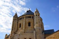 Abbotskloster av Dormitionen, Jerusalem Arkivbild