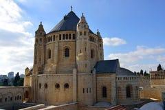 Abbotskloster av Dormitionen, Jerusalem Arkivfoton