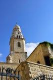 Abbotskloster av Dormitionen, Jerusalem Royaltyfri Foto