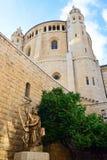 Abbotskloster av Dormitionen, Jerusalem Fotografering för Bildbyråer