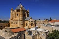 Abbotskloster av Dormitionen, Jerusalem, Israel Arkivbilder
