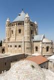 Abbotskloster av Dormitionen - Mountet Zion, Jerusalem Royaltyfri Bild