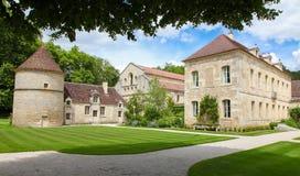 Abbotskloster av Fontenay Fotografering för Bildbyråer