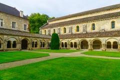 Abbotskloster av Fontenay Arkivfoto