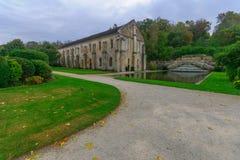 Abbotskloster av Fontenay Royaltyfria Bilder